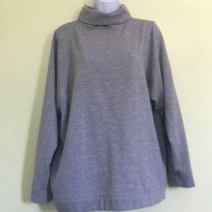 EUC Zara Turtleneck Heathered Gray Sweatshirt M